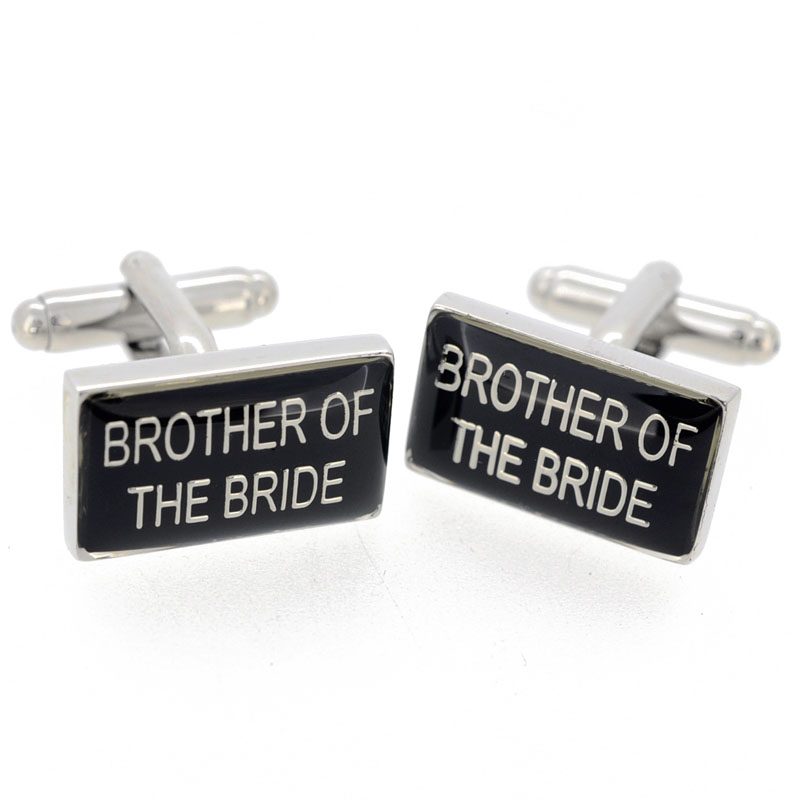 Brother Of The Bride Wedding Cufflinks And Tie Clip Set