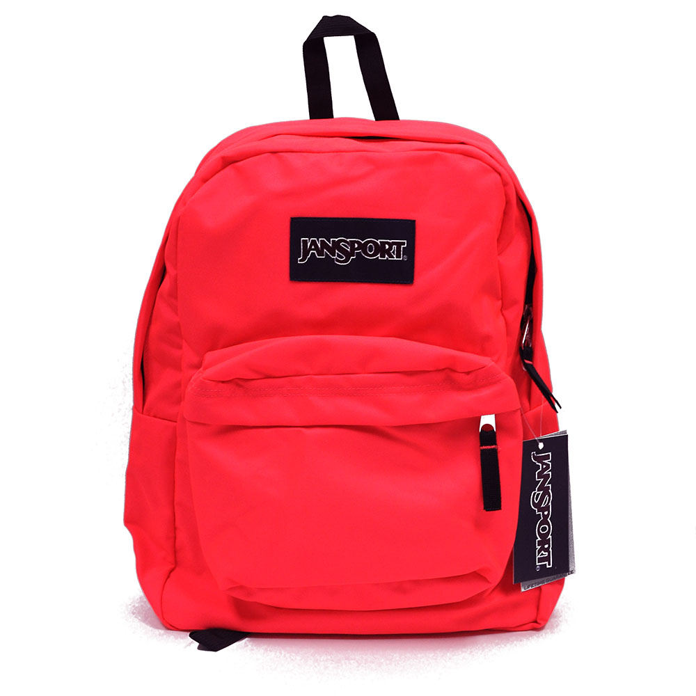 JanSport SuperBreak School Backpack - FLUORESCENT RED - Fantasyard ...