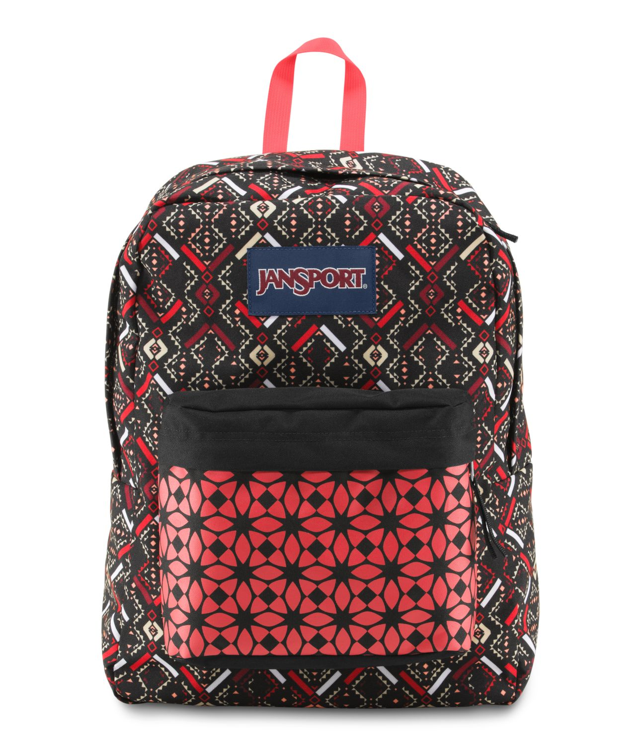 JanSport SuperBreak School Backpack - CORAL DUSK TRIBAL MOSAIC ...
