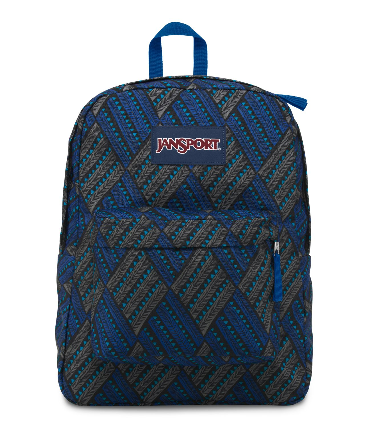 JanSport SuperBreak School Backpack - BLUE STREAK TROPIC CHOMP