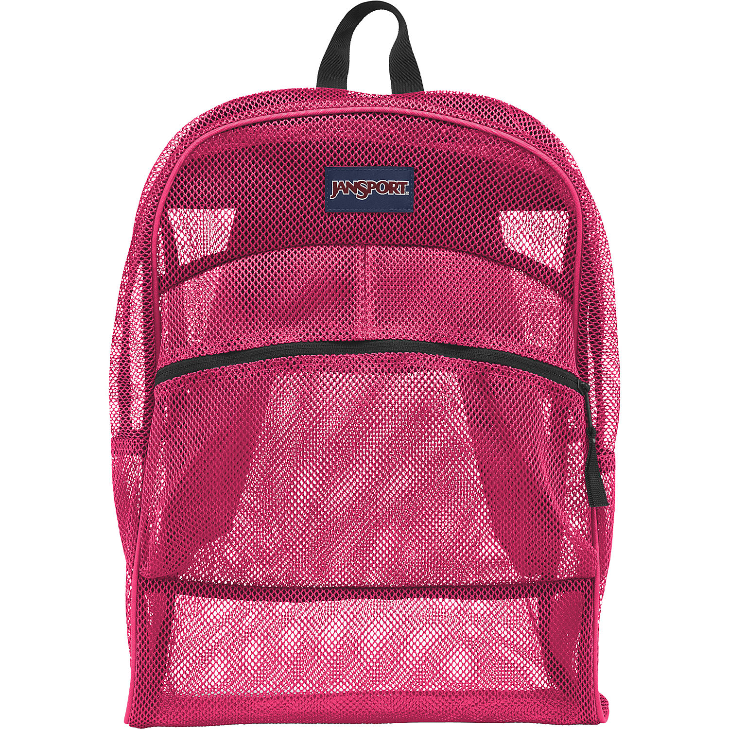 JanSport Mesh Pack School Backpack - Pink Tulip