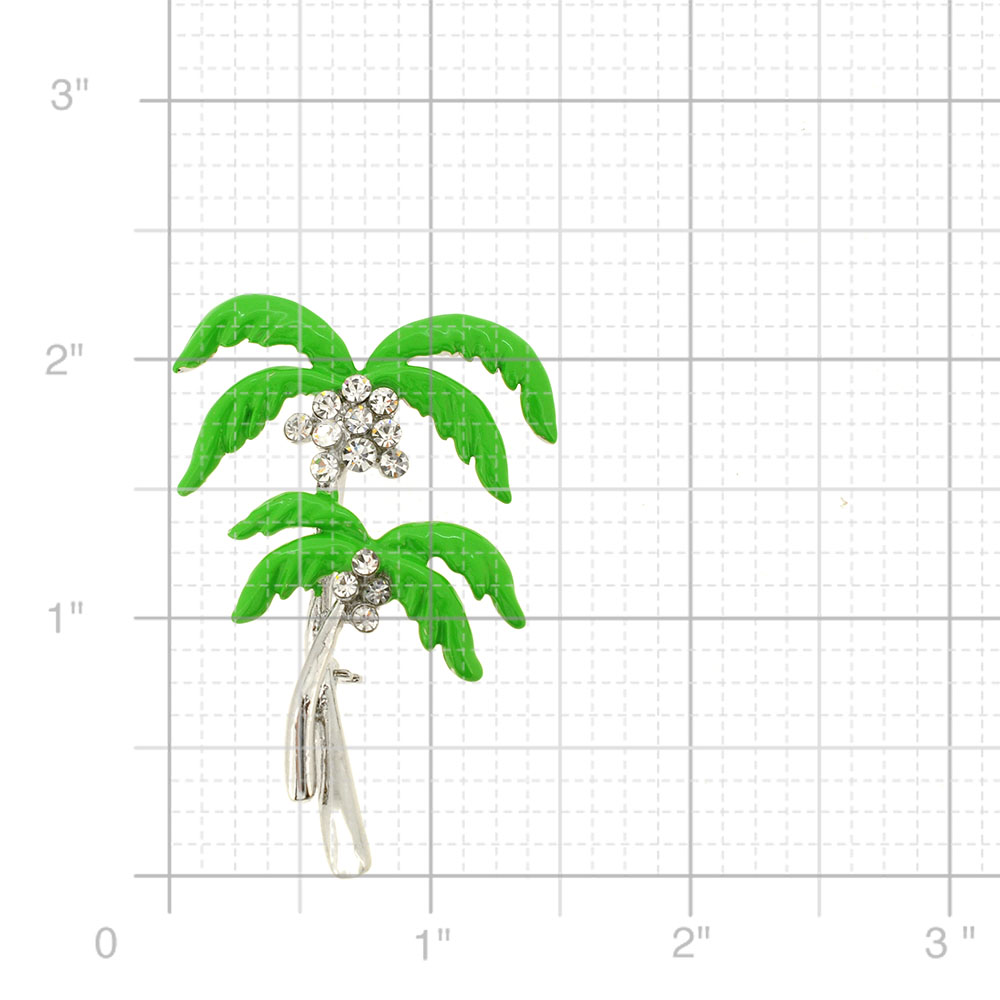 Green Coconut Palm Tree Pin Brooch Fantasyard Costume
