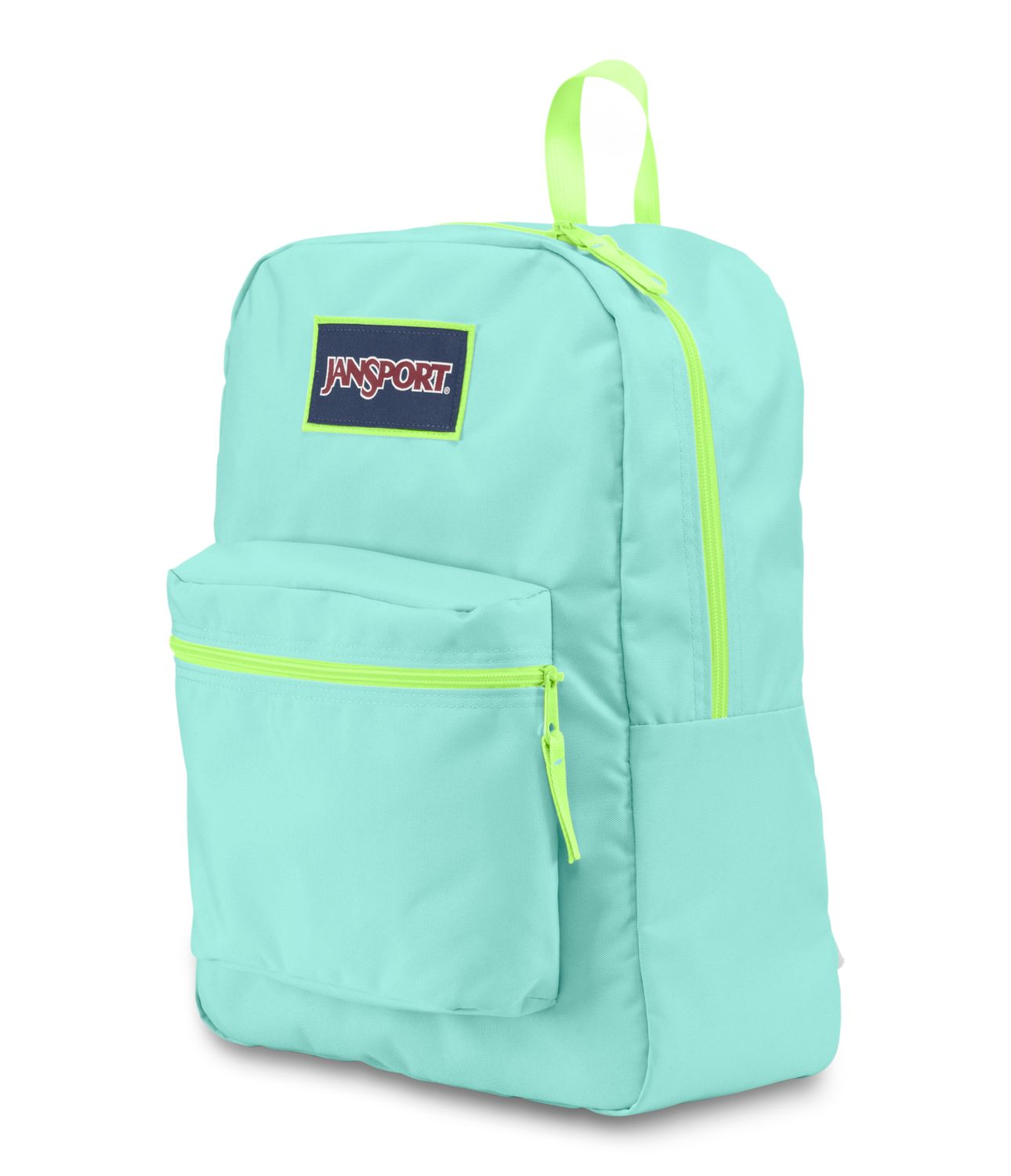 JanSport Overexposed School Backpack - Aqua Dash/Lorac Yellow