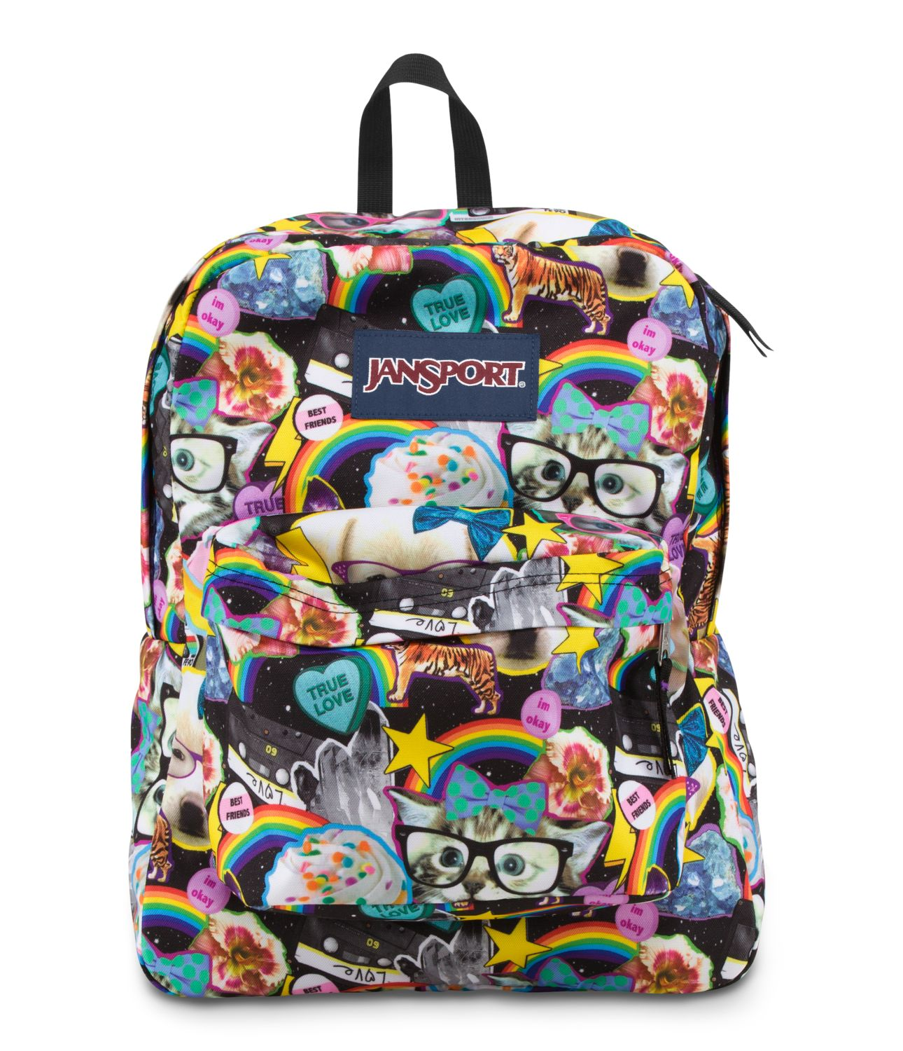 JanSport SuperBreak School Backpack - Multi Hairball - Fantasyard ...