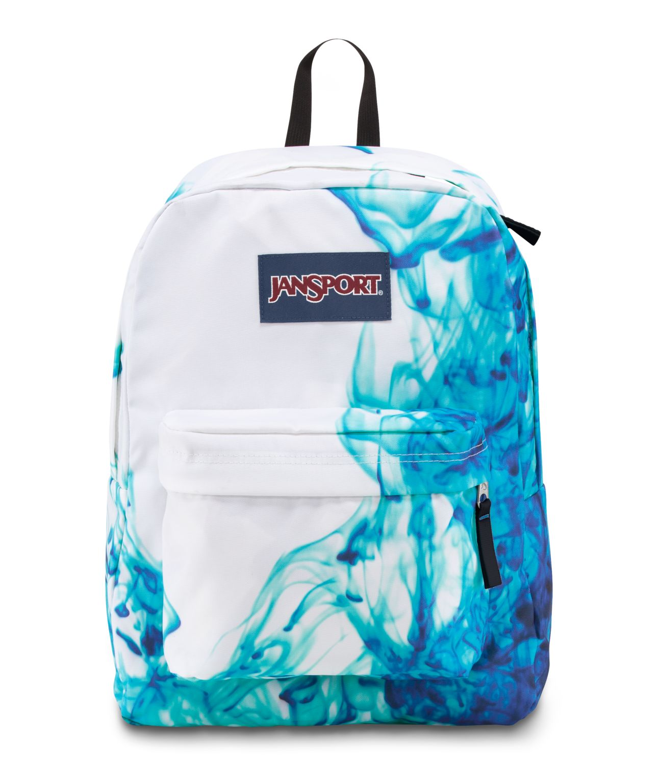JanSport SuperBreak School Backpack - Multi/Blue Drip Dye