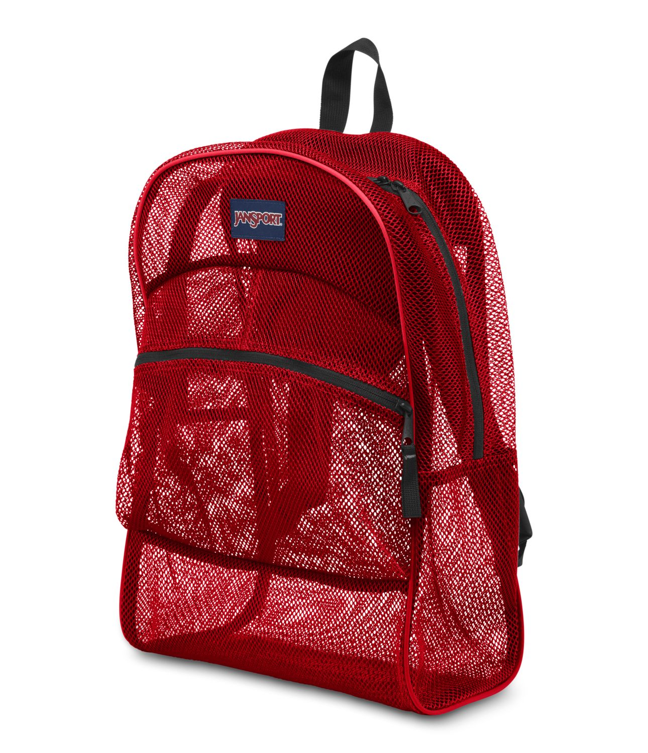 JanSport Mesh Pack School Backpack - High Risk Red