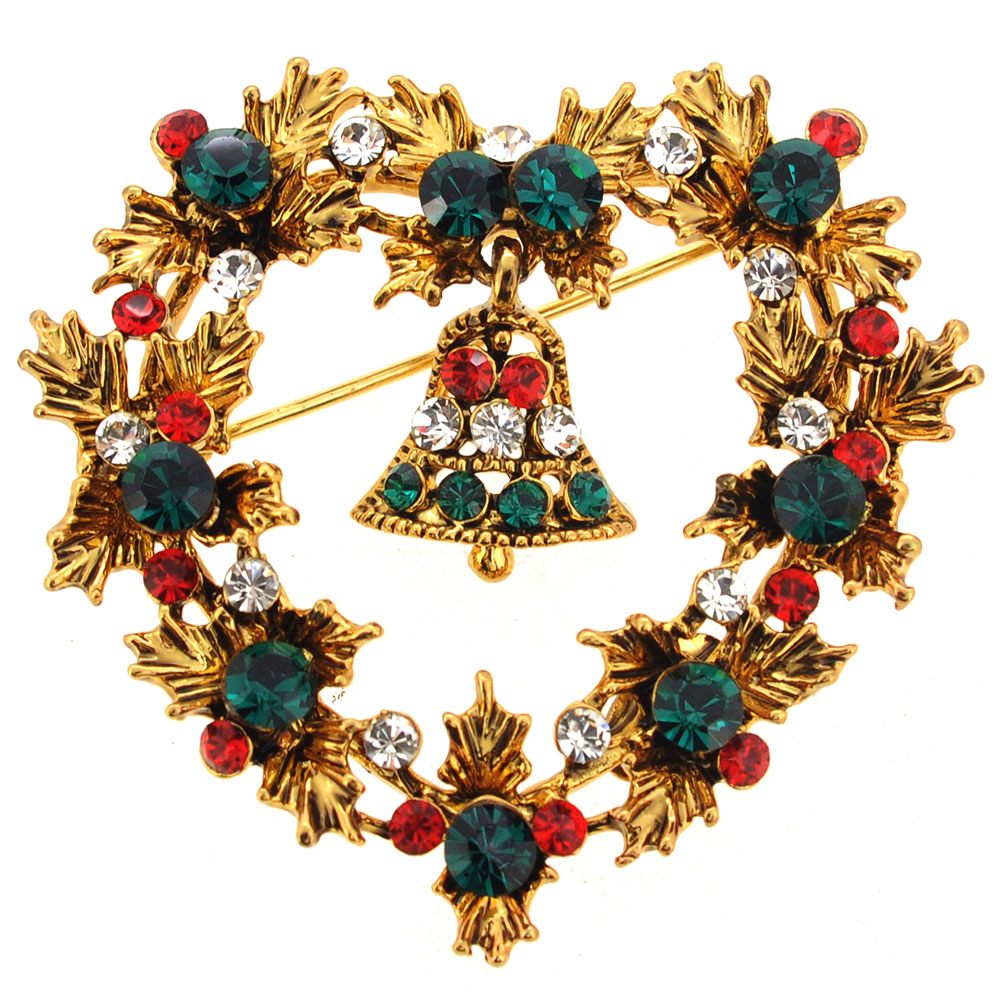 Christmas heart wreath pin brooch fantasyard costume