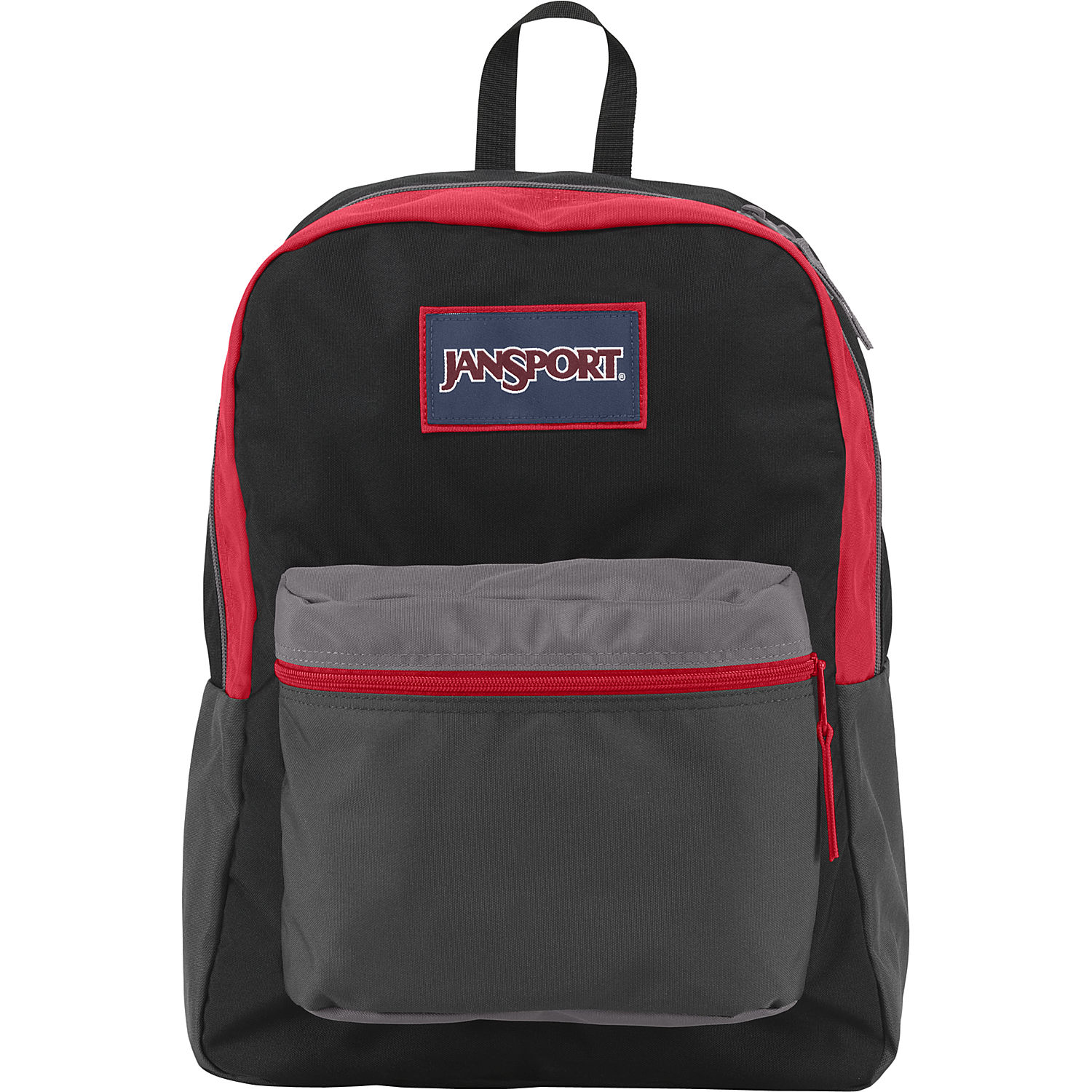 JanSport Overexposed School Backpack - BLACK/SHADY GREY/HIGH RISK ...