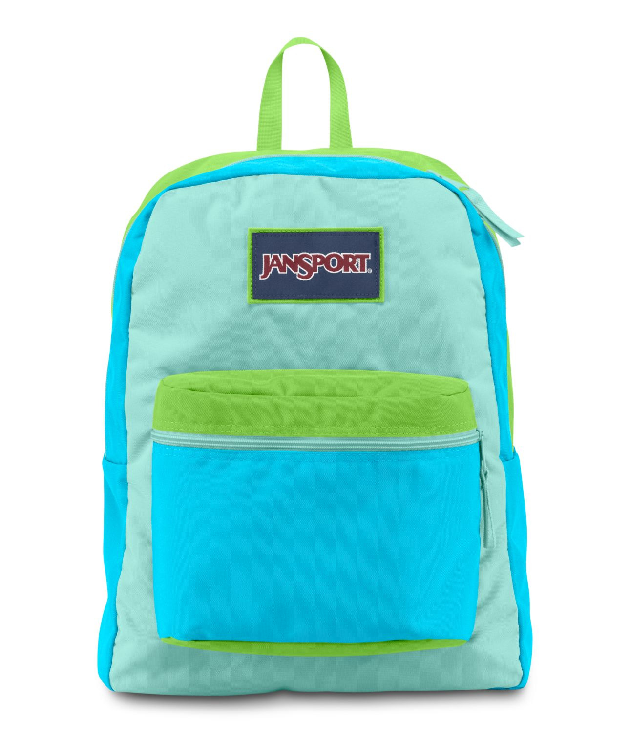 JanSport Overexposed School Backpack - MAMMOTH BLUE/AQUA DASH/ZAP ...