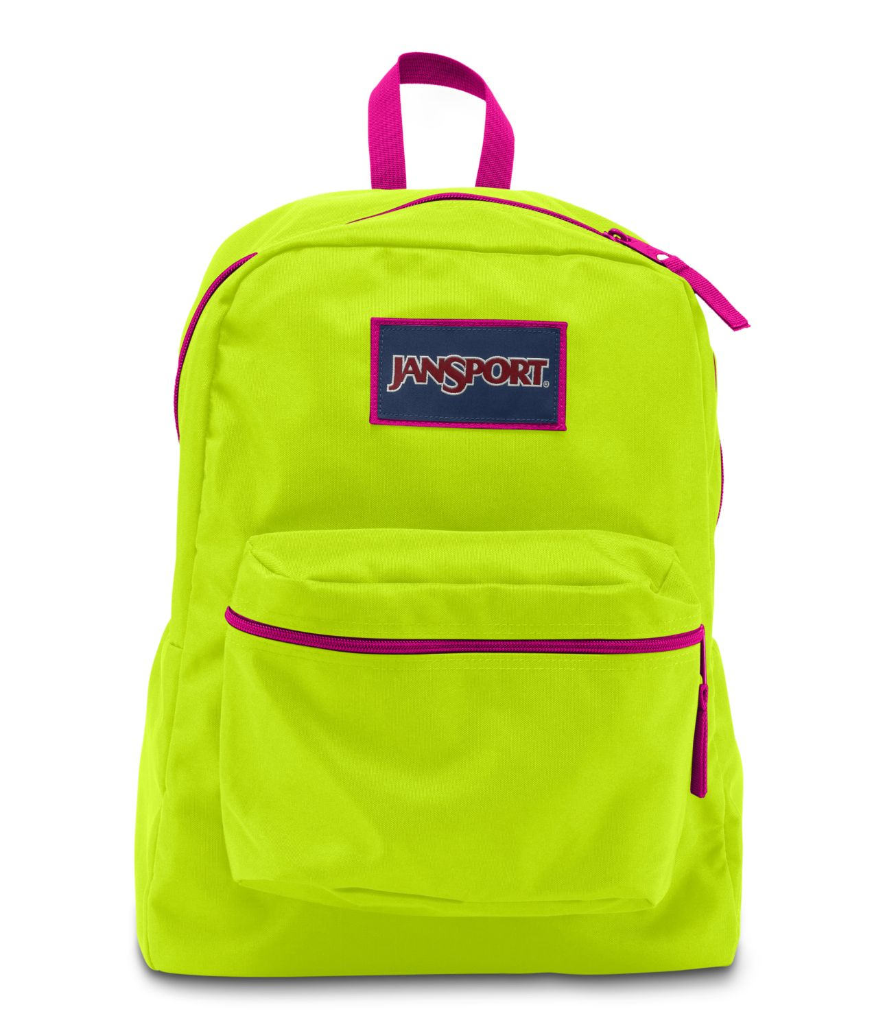 JanSport Overexposed School Backpack - LIME PUNCH/CYBER PINK ...