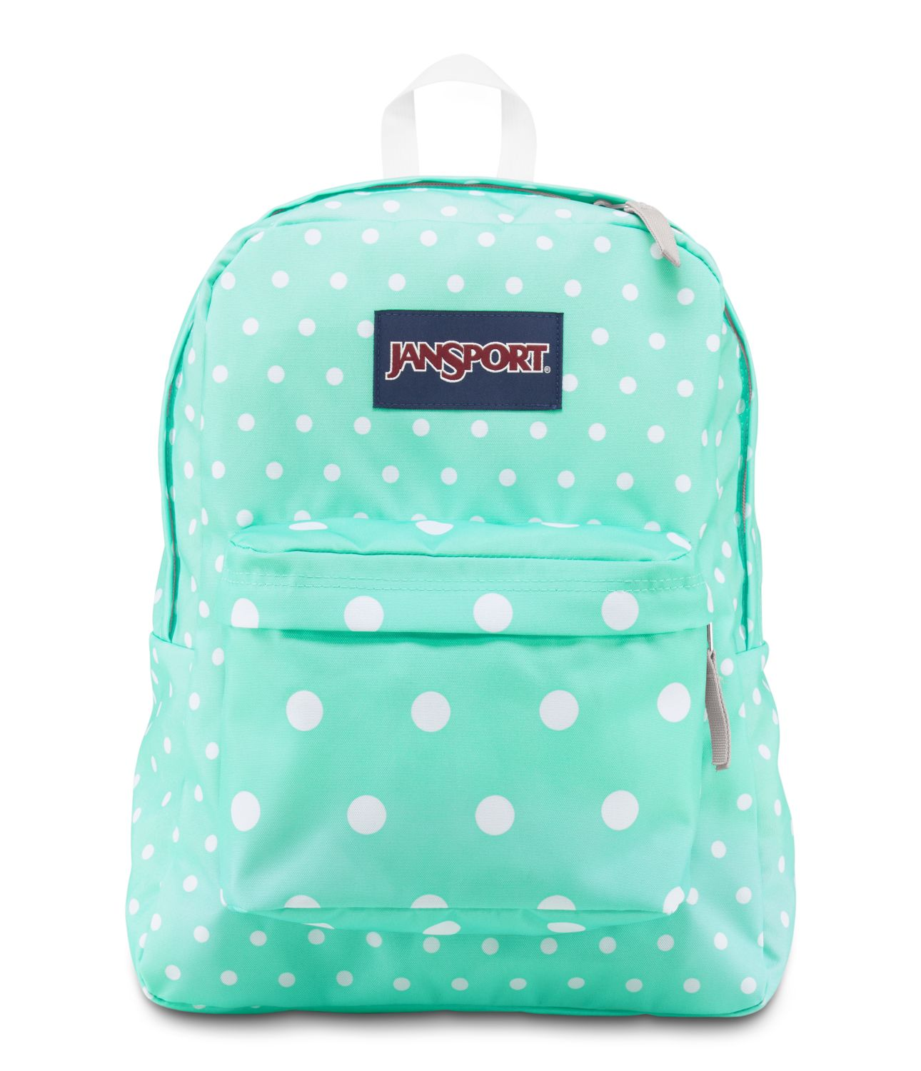 JanSport Overexposed School Backpack - AQUA DASH SPOTS