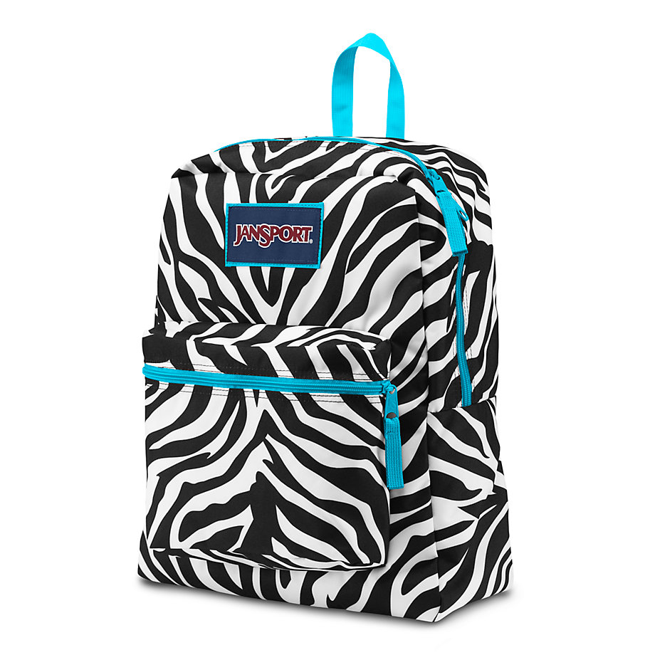 JanSport Overexposed School Backpack - MISS ZEBRA/MAMMOTH BLUE ...