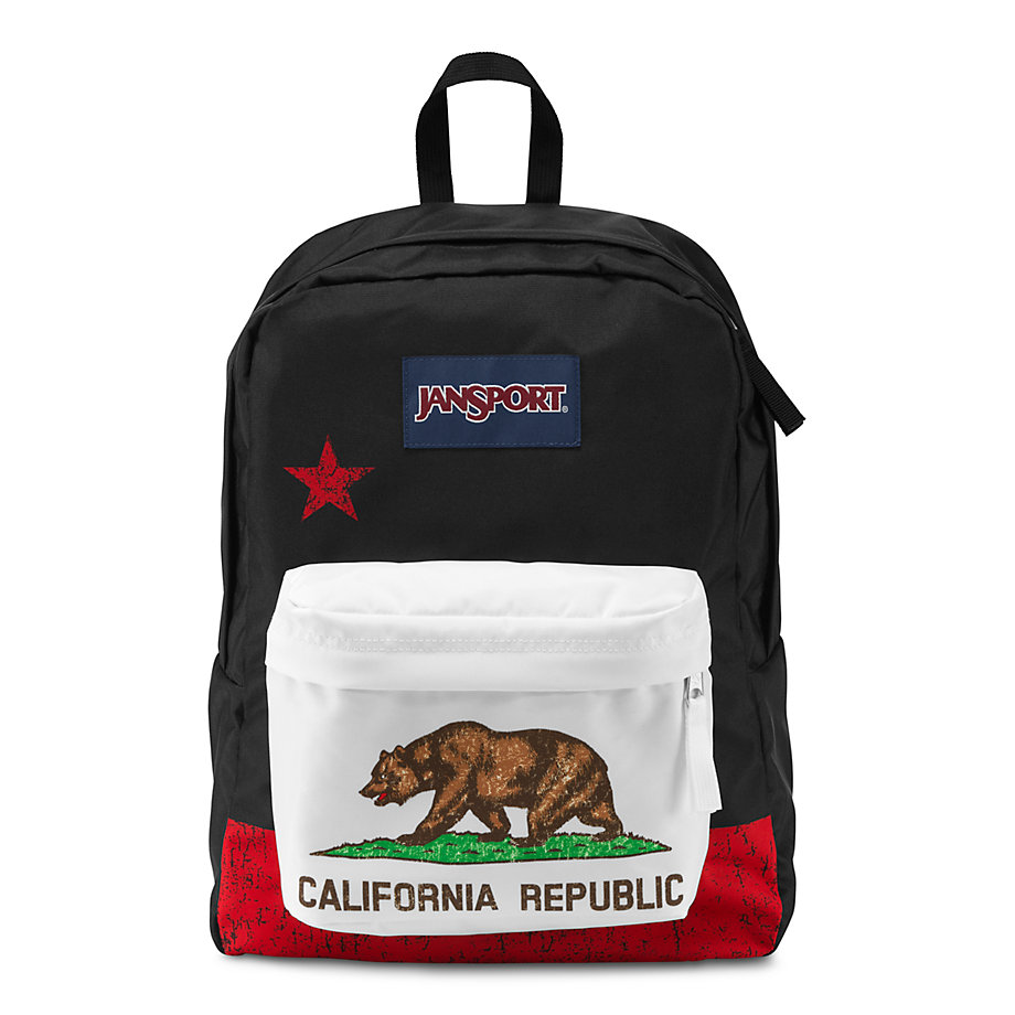 JanSport SuperBreak School Backpack - RED NEW CALIFORNIA REPUBLIC ...