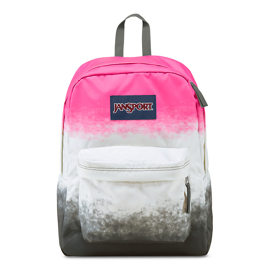 Pink And Gray Jansport Backpack - Crazy Backpacks