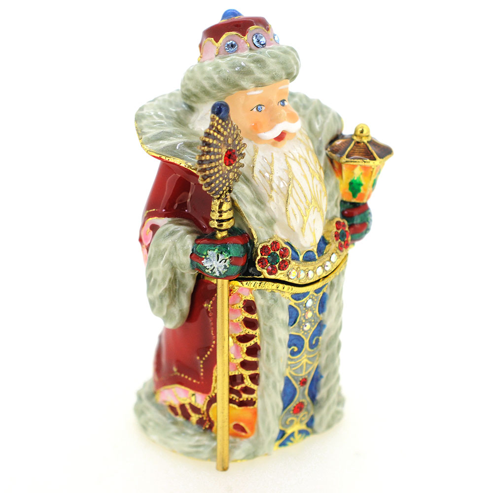Christmas santa claus red robe trinket box fantasyard