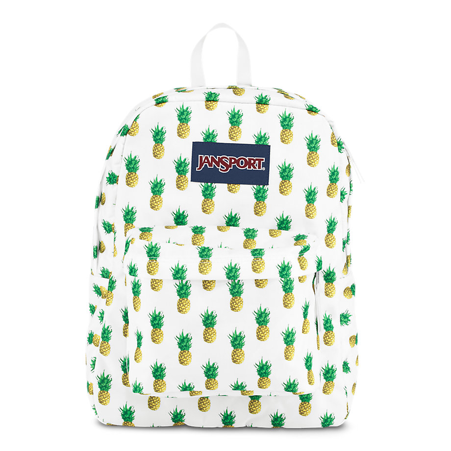 jansport superbreak school backpack  pineapple multi