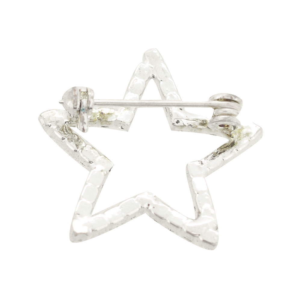 Crystalline Silvers: Silver Crystal Star Brooch Pin