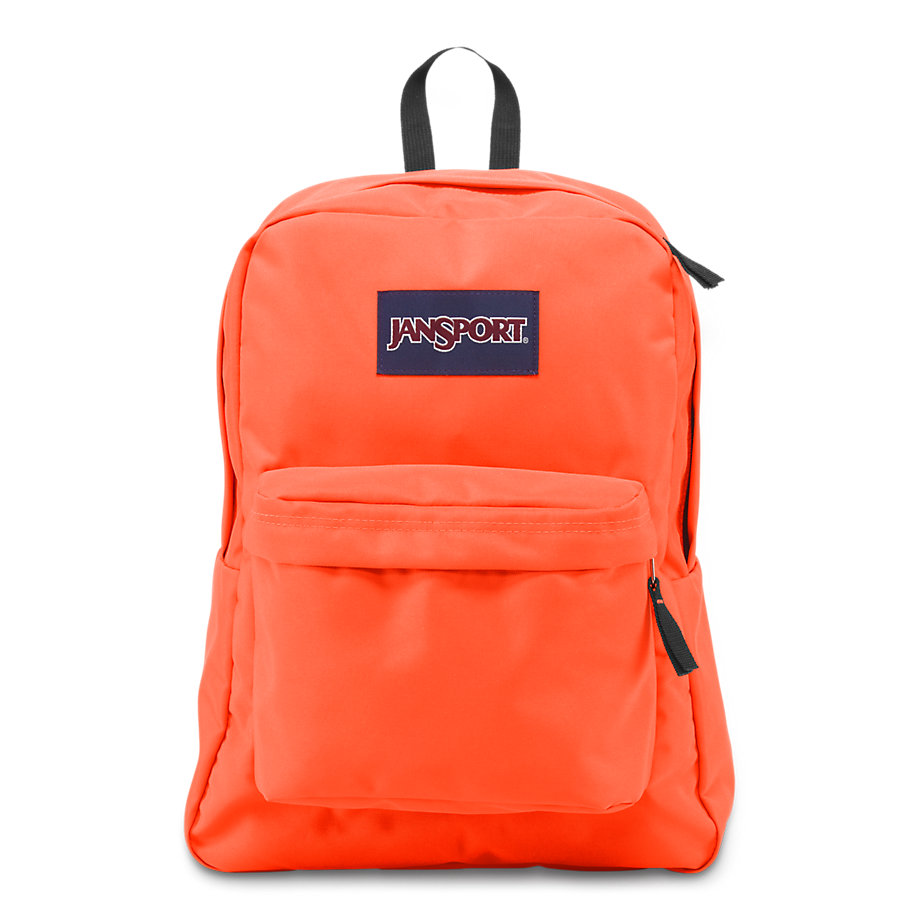 JanSport SuperBreak School Backpack - Tahitian Orange - Fantasyard ...