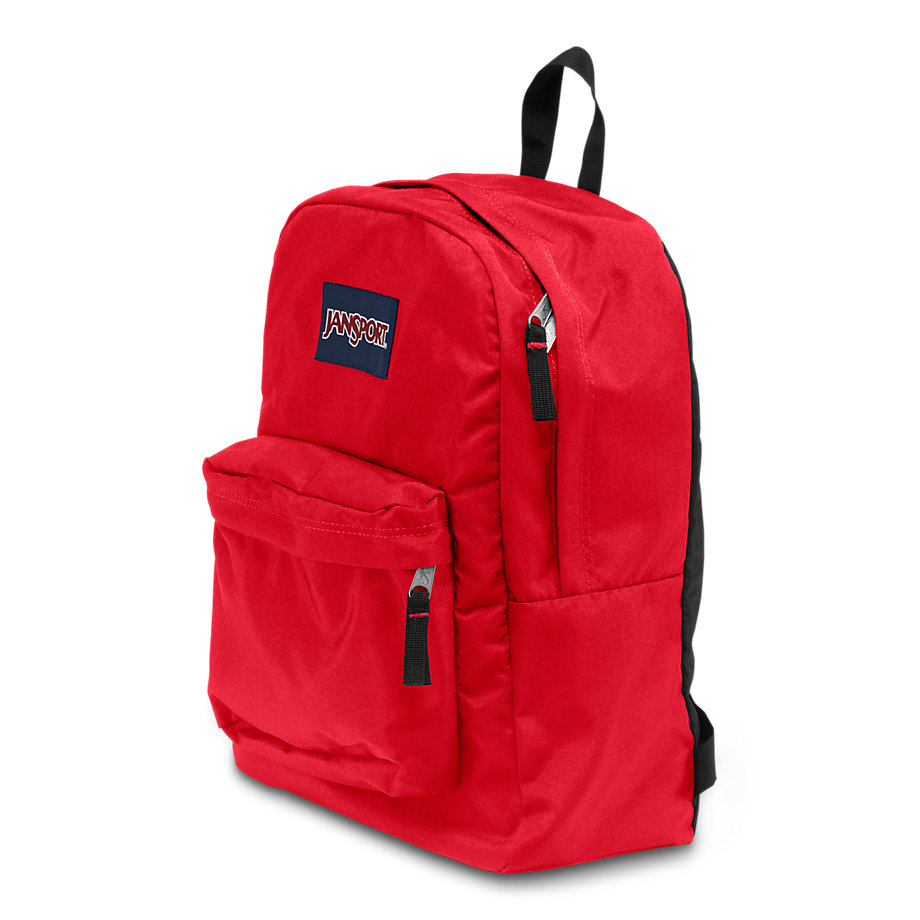 JanSport SuperBreak School Backpack - Red Tape ...