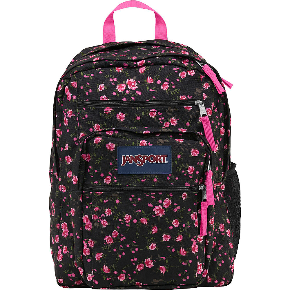 Jansport Big Student School Backpack Lipstick Pink Tea