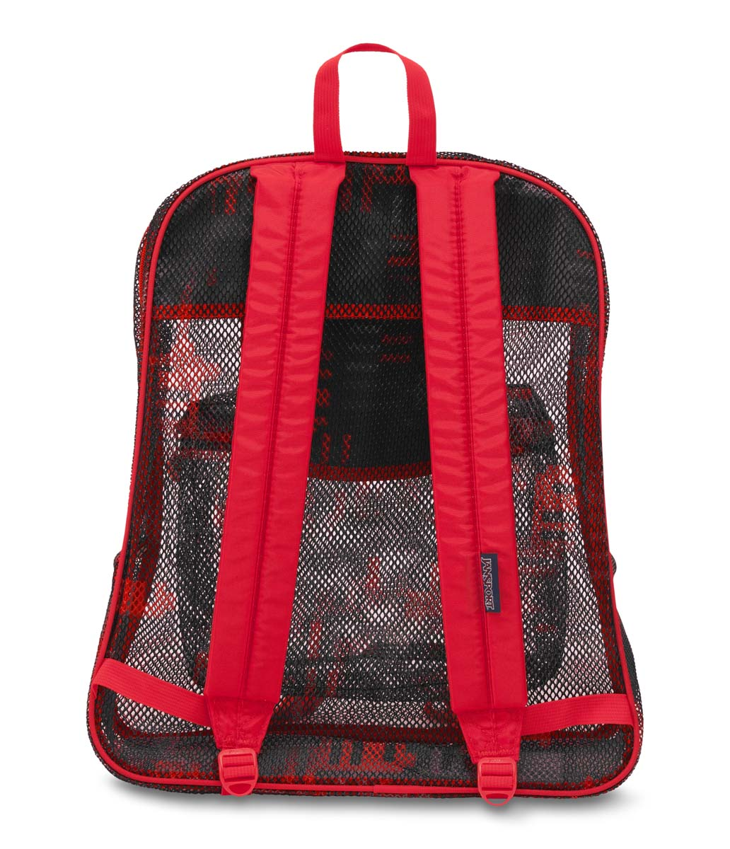 JanSport Mesh Pack School Backpack - High Risk Red Checkers ...