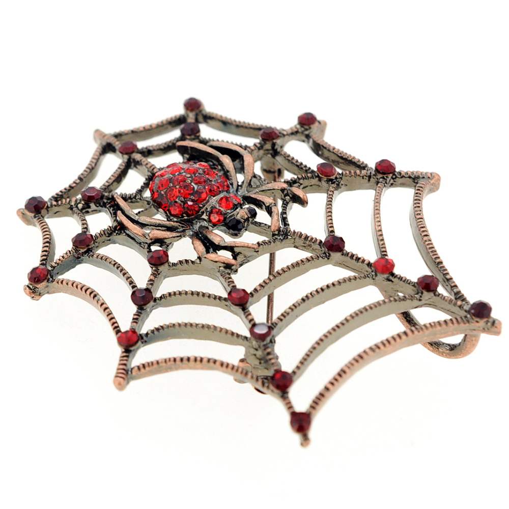 Vintage style red spider crystal pin brooch and pendant for Vintage costume jewelry websites