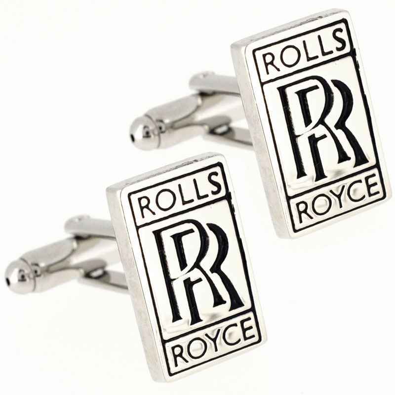 rolls royce logo automotive car cufflinks fantasyard costume jewelry accessories. Black Bedroom Furniture Sets. Home Design Ideas