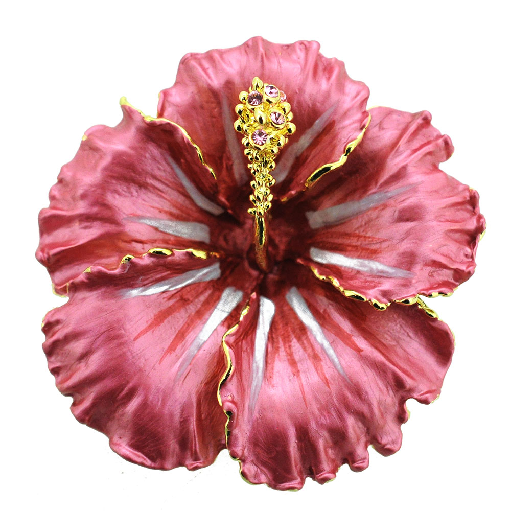 Red hawaiian hibiscus swarovski crystal flower pin brooch and red hawaiian hibiscus swarovski crystal flower pin brooch and pendant mightylinksfo
