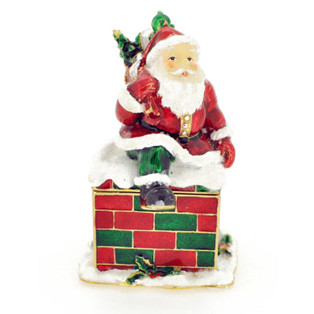 Christmas gift santa claus crystal jewelry