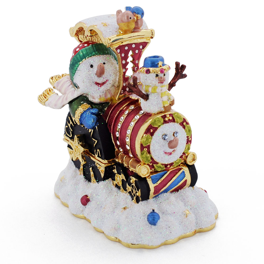 Snowman In Red Thomas The Train Christmas Trinket Box with ...