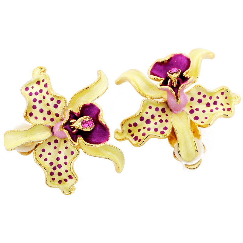 Csxjd Natural Pearl Orchid Earrings Women Fashion Charm Factory China Mainland