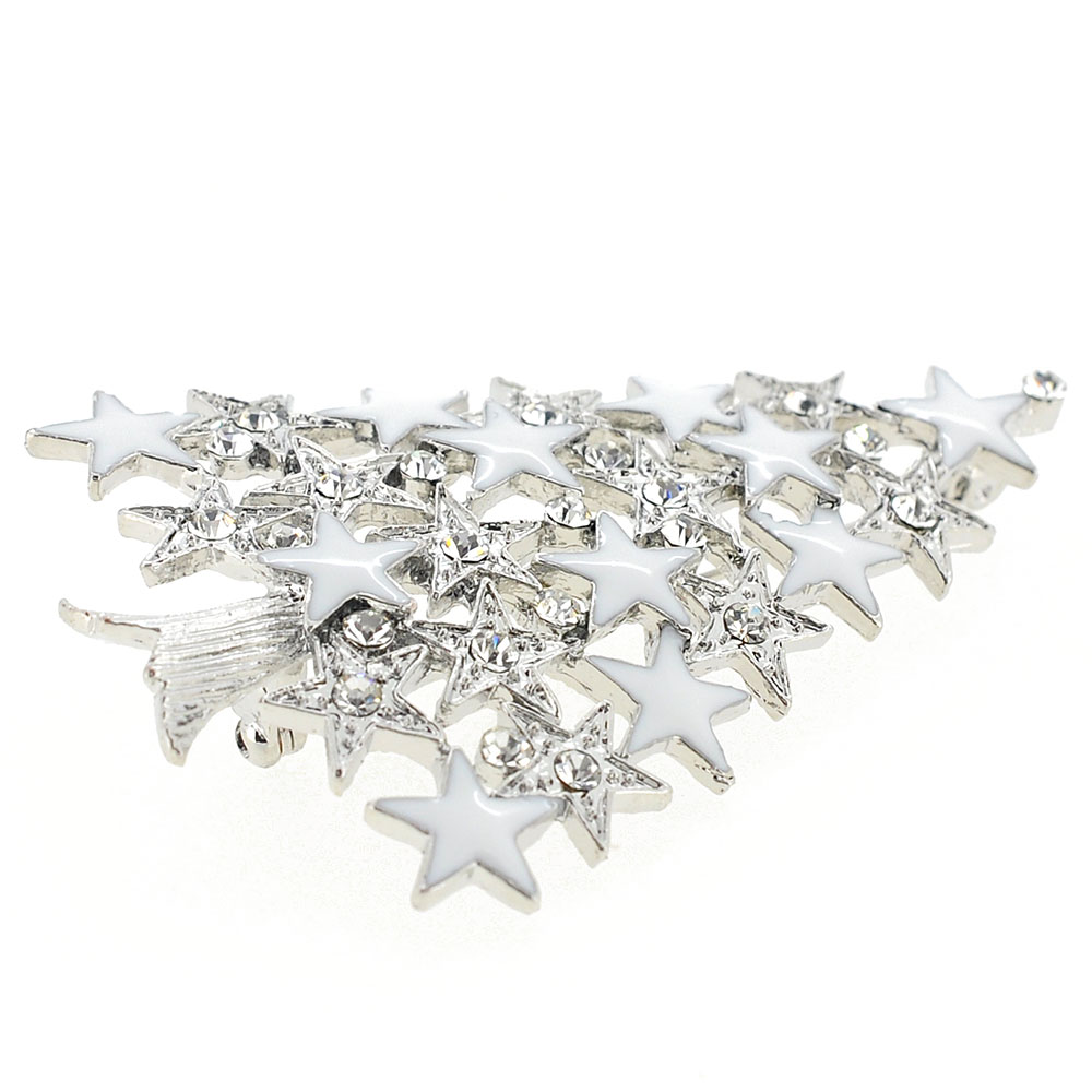 enamel star christmas tree austrian crystal christmas pin brooch - Crystal Christmas Tree
