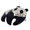 Black Enamel Panda Pin Brooch