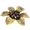 Topaz Golden Brown Pearl Flower Pin Brooch