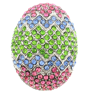 Multicolor Easter Egg Crystal Pin Brooch