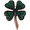 Emerald Green St. Patrick's Day Clover Crystal Pin Brooch
