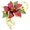 Red Poinsettia Christmas Star Flower Pin Brooch Pendant