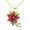 Red Poinsettia Christmas Star Flower Pin Brooch/Pendant(Chain Not Included)