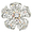 White Flower Wedding Swarovski Crystal Brooch and Pendant
