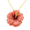 Peach Hawaiian Hibiscus Flower Brooch/Pendant (Chain Not Included)