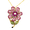 Pink Swarovski Crystal Flower Pin Brooch And Pendant(Chain Is Not Included)