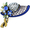 Blue Bonnet Hat Swarovski Crystal Easter Brooch Pin