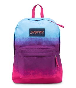 JanSport SuperBreak School Backpack - Purple Night Color Ombre