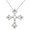 Crystal Cross Wedding Pin And Pendant