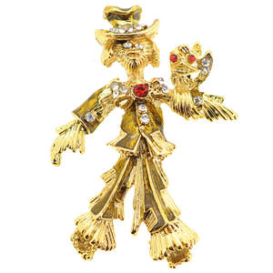 Scarecrow Pin Brooch