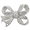 Silver Chrome Bow Knot Crystal Pin Brooch
