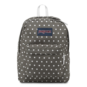 JanSport SuperBreak School Backpack - Shady Grey White Dots
