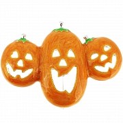 Halloween Enamel Yellow Pumpkin Brooch Pin