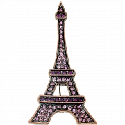 Amethyst Paris Eiffel Tower Pin Austrian Crystal Pin Brooch And Pendant(Chain Not Included)