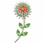 Multi-Color Sunflower Pin Brooch